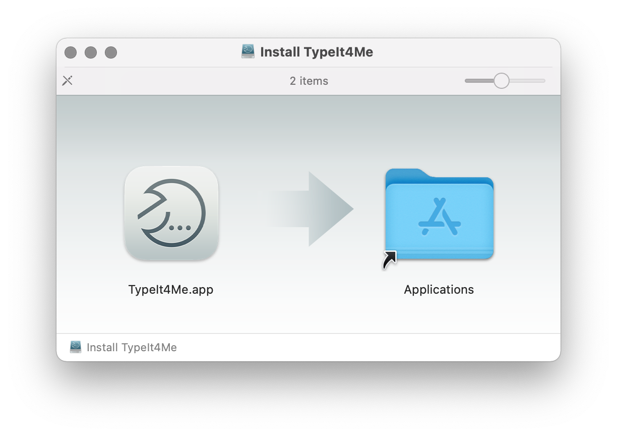 TypeIt4Me installation screenshot